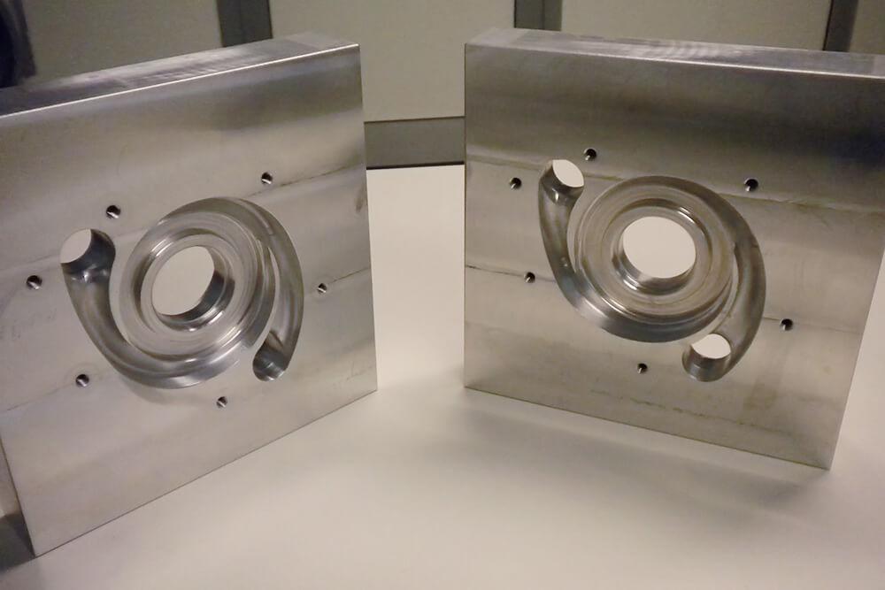 Maschera in alluminio per prova di pressione